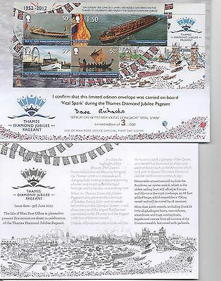 ISLE OF MAN STAMPS  FDC  Thames Diamond Jubilee Pageant