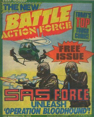 Battle Action Force Comic #1 rare variant (free issue cover) Oct 1983 UK GI Joe