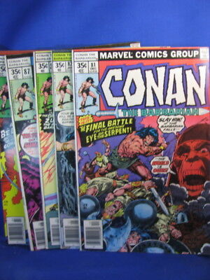Marvel- Conan The Barbarian #81, 82, 85, 87, 88- Vg/f
