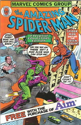 the Amazing Spider-Man Comic Book Aim Toothpaste Giveaway 1980 VERY FINE UNREAD