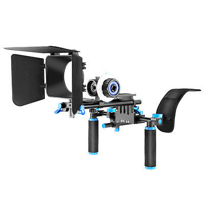 Neewer DSLR Rig Set Movie Kit include Shoulder Mount Follow for All DSLR Cameras