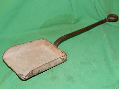 """Antique! Blacksmith Hand Crafted, 17"""" Forged Iron Fireplace Coal Ash Shovel"""