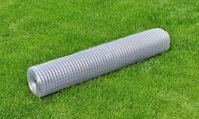 vidaXL 1x10m Galvanised Wire Netting Mesh Pet Poultry Fencing Chicken Coop 25mm