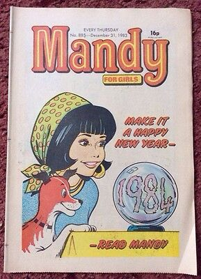 Mandy Comic 31 December 1983. New Year Issue  Newsagents Stock Unread. Vfn+ (1