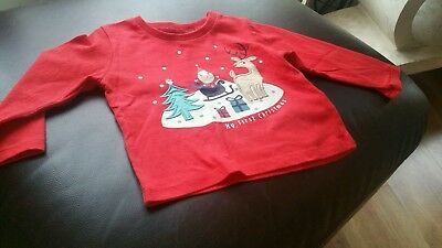 My first Christmas Top 9-12 Months M&S