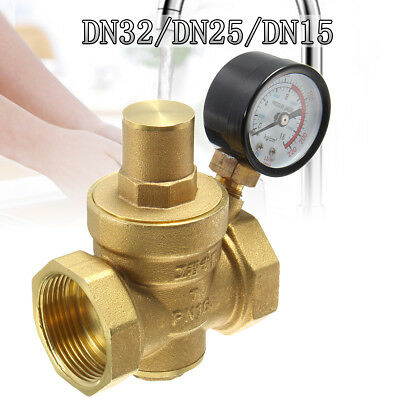 water pressure reducing valve 1 2 3 4 female for 15mm 22mm pipe with gauge. Black Bedroom Furniture Sets. Home Design Ideas