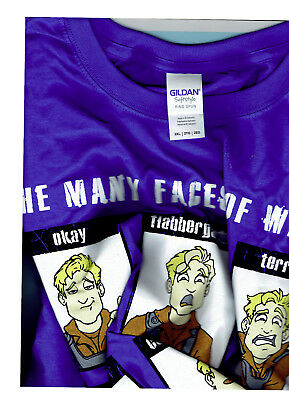 FIREFLY Many Faces of Wash Tee Sz 2XXL blue Brand New Serenity  LootCrate #4