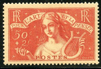 Stamp /  Timbre De France Neuf N° 308 * Chomeurs Intellectuels  Cote 65 €