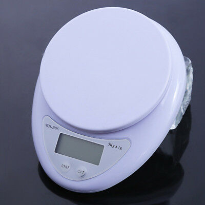 Electronic Digital 5000/0.1g Kitchen Cooking Black/White W/ Bowl Weighing Scales