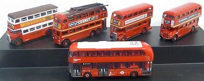 Bnib N Gauge Oxford Diecast 1:148 Nset004 5 Piece Bus Set London Transport