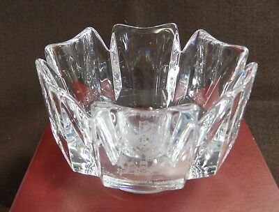 Orrefors Crown Crystal Bowl Signed & Etched 'City of Newcastle Upon Tyne' Boxed