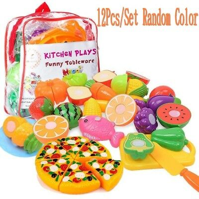 Fruit Vegetables Food Toy Cutting Set Oulii Kitchen Kids Play Kids Pretend Role