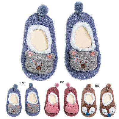 Cute Baby Toddler Soft Anti-slip Socks Grip Slippers Cartoon Animal Shoes