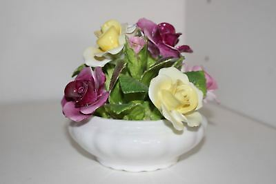 Vintage Coalport Bone China Hand Modelled Porcelain Flower Bouquet-England