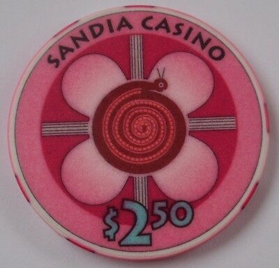 $2.50 Chip SANDIA Casino Albuquerque, NM / Pueblo of Sandia ~I COMBINE SHIPPING~