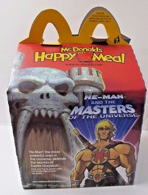 Lot Of 10  Mcdonald's - He-Man & Masters Of Univers./bratz Happy Meal Boxes- New