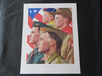Growth of a Leader, Norman Rockwell Boy Scout Print 11 x 14   cp