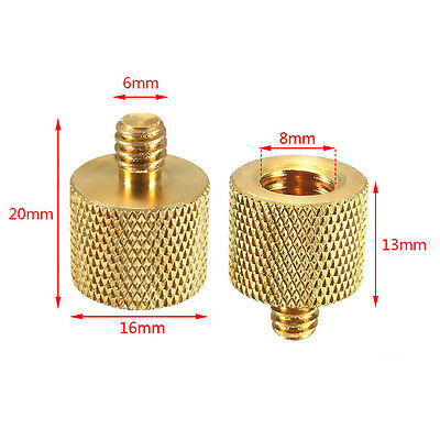 """3/8"""" Female to 1/4"""" Male Thread Screw Adapter for Light Stands"""