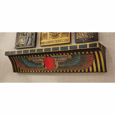 """Protective Symbol Sun Disk 23"""" Egyptian Temple Offering Wall Shelf NEW"""