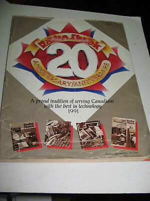 1991 Radio Shack Canadian  Anniversary Catalog  180 Pages & 1993 24 Page Flyer