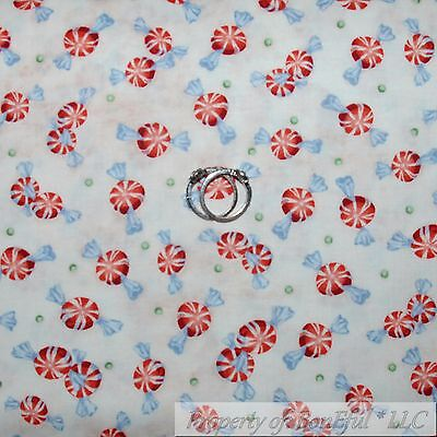 BonEful Fabric FQ Cotton Quilt VTG Patriotic USA Red Xmas BUBBLE Dot Bar Blender