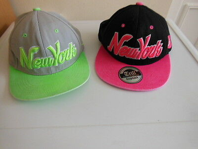 New York Baseball Caps /trill Pink & Black/king Ice Green & Grey/snapback Adjust