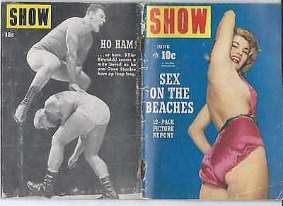 SHOW v2 #10 -JUNE 1954- BILLIE HOLIDAY WRESTLER KILLER KOWALSKI COVER & PIX
