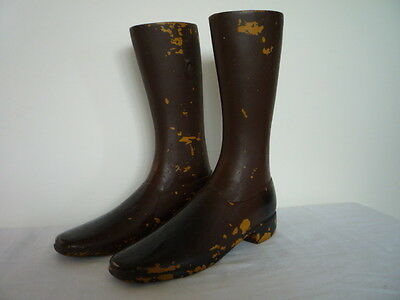 Vintage Industrial Pair Boots Great For Shop Advertising Window Display Prop
