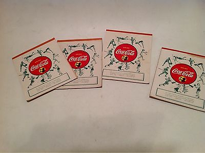 4 Vintage 1940's WWII Coke Coca-Cola Paper School Notebook Tablet Writing Pad A+