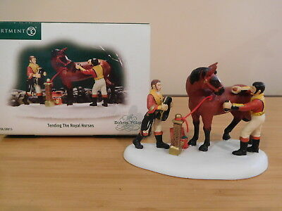 Dept 56 Dickens Village - Tending The Royal Horses