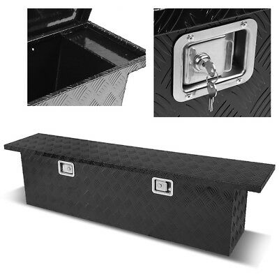 "60"" Heavy Duty Black Aluminum Pickup Truck Bed Trailer Tongue Tool Box Storage"