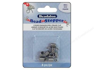 Beadalon Small Bead Stopper Ends Spilled Beads Pkg 8 Beading Stringing Jewelry