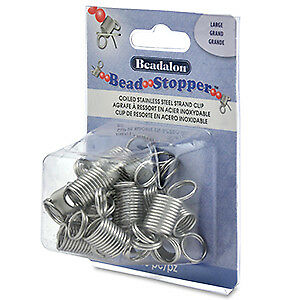 Beadalon Large Bead Stopper No Spilled Beads Set of 16 Beading Stringing Jewelry