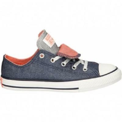 Girls Youth CONVERSE DOUBLE TONGUE 658112F SHIMMER PACK Sneakers Shoes BLUE