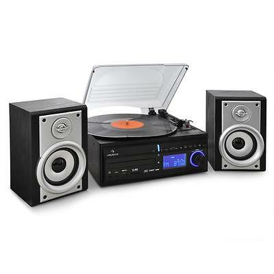 Klasse Stereo Musik Anlage mit CD-Player, Plattenspieler, Radio & MP3 Encoding