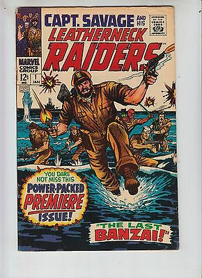 Captain Savage and His Leatherneck Raiders 1 VG (4.0) 1/68 Sgt Fury Cameo