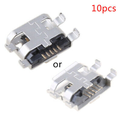 10x Micro USB Type B Female Socket 0.72mm Connector For Phone Tablet Charging
