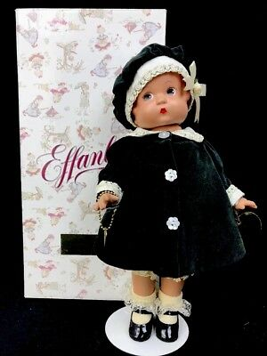 """1999 Effanbee Patsy Holiday Doll Girl Green Outfit Limited Edition Vinyl 12"""""""