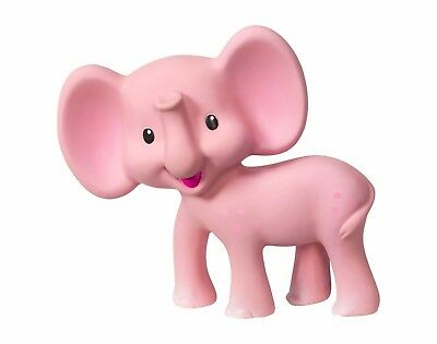 Infantino Baby ~Kiki Pink Elephant~ Soft Chewy Squeeze Teether Toy ~New In Box!