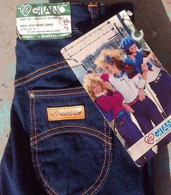 Vintage 1984 Gitano High Waist Waisted Denim Jeans Pants Size 6 7 Women's NOS