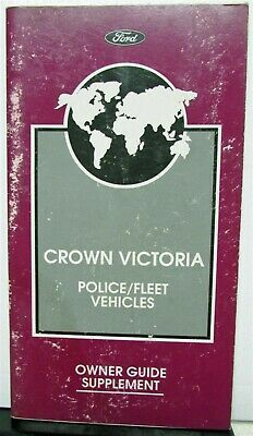 1997 Ford Crown Victori Police Car Fleet Vehicles Owner Guide Manual Supplement