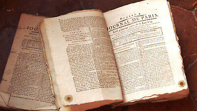 "lot DE 23 journaux REVOLUTIONNAIRE royaliste"" le Journal de Paris  janvier 1790"