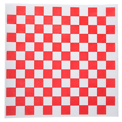 Dry Deli Paper Liners Sheet for Plasic Food Basket (100,Red And White Checkered)