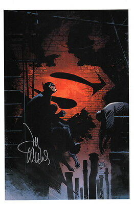 Lee Weeks SIGNED DC Comic Art Print ~ Superman Vs Batman