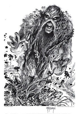 John Totleben SIGNED DC Comics Vertigo / Horror Art Print ~ Swamp Thing