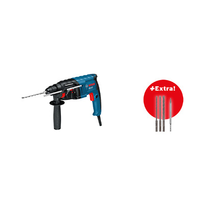Bosch Professional Set Martillo Plus GBH 2-20 D + 3 brocas SDS-plus + 1 Cincel S