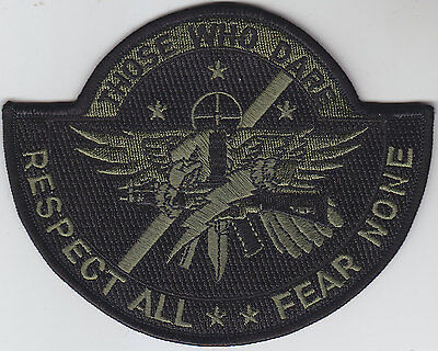 SWAT OPERATOR police patch THOSE WHO DARE/RESPECT ALL/FEAR NONE/OD Green/BLACK