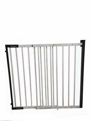 iSafe Wall Fix Extendable Metal Stairgate Safety Barrier Stair Gate - White