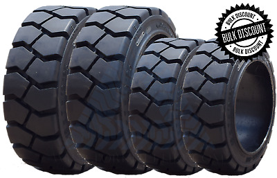 21X7X15 Tire -New Solid Forklift Tire Black Traction 21715