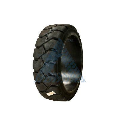18X6X12 1/8 Tire -New Solid Forklift Tire Black Traction 18X6X12.125